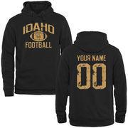 Men's Black Idaho Vandals Personalized Distressed Football Pullover Hoodie