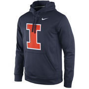 Men's Nike Navy Illinois Fighting Illini Practice Performance Hoodie