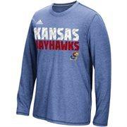 Men's adidas Royal Kansas Jayhawks 2015 Sideline Shock Energy Aeroknit T-Shirt