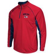 Men's Colosseum Red Fresno State Bulldogs Lineman Quarter-Zip Jacket