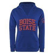 Boise State Broncos Women's Chain V-Notch Pullover Hoodie - Royal Blue