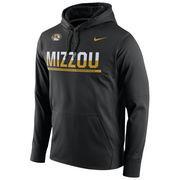 Men's Nike Black Missouri Tigers Circuit Pullover Performance Hoodie