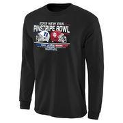 Men's Black Duke Blue Devils vs. Indiana Hoosiers 2015 Pinstripe Bowl Bound Rundown Long Sleeve T-Shirt