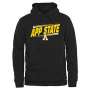 Men's Black Appalachian State Mountaineers Double Bar Pullover Hoodie
