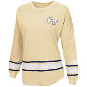 Women's Colosseum Navy Georgia Tech Yellow Jackets All Around Oversized Long Sleeve T-Shirt
