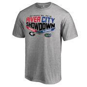 Men's Heather Gray Florida Gators vs. Georgia Bulldogs 2016 River City Showdown Matchup T-Shirt