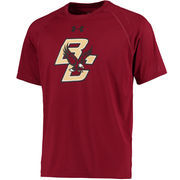 Men's Under Armour Maroon Boston College Eagles Logo Tech Performance T-Shirt