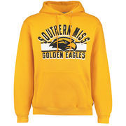 Men's Russell Gold Southern Miss Golden Eagles Sideline Fleece Pullover Hoodie