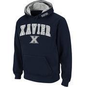 Men's Stadium Athletic Navy Xavier Musketeers Arch & Logo Pullover Hoodie