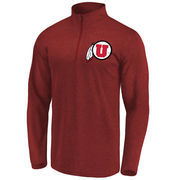 Men's Fanatics Branded Red Utah Utes Elevated Quarter-Zip Jacket