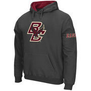 Men's Stadium Athletic Charcoal Boston College Eagles Big Logo Pullover Hoodie