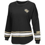 Women's Colosseum Black UCF Knights All Around Oversized Long Sleeve T-Shirt