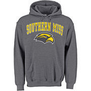 Men's New Agenda Charcoal Southern Miss Golden Eagles Midsize Arch Over Logo Hoodie