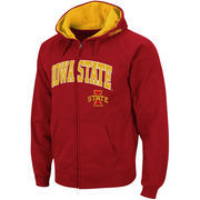 Men's Stadium Athletic Cardinal Iowa State Cyclones Arch & Logo Full Zip Hoodie
