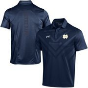 Men's Under Armour Navy Notre Dame Fighting Irish 2015 Coaches Sideline Scout Polo