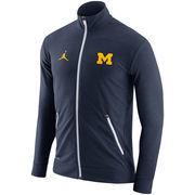 Men's Brand Jordan Heather Navy Michigan Wolverines 2016 Elite Player Dri-FIT Touch Full-Zip Jacket