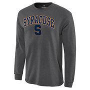 Men's Charcoal Syracuse Orange Campus Long Sleeve T-Shirt
