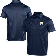 Men's Under Armour Navy Notre Dame Fighting Irish Coaches Sideline Scout Polo