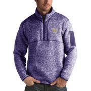 Men's Antigua Heathered Purple Washington Huskies Fortune 1/2-Zip Pullover Sweater