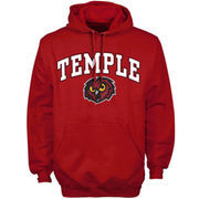 Mens Cherry Temple Owls Arch Over Logo Hoodie