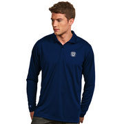 Men's Antigua Navy Butler Bulldogs Exceed Long Sleeve Polo