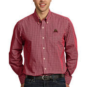 Mens Cornell Big Red Antigua Carnelian Monarch Long Sleeve Button-Down Shirt