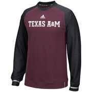 Men's adidas Maroon Texas A&M Aggies Sideline Player climawarm Sweatshirt