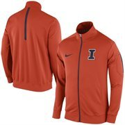 Men's Nike Orange Illinois Fighting Illini 2015 Football Players Empower Travel Full Zip Jacket