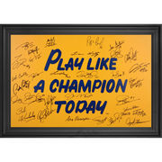 Notre Dame Fighting Irish Framed Autographed 20