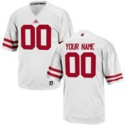 adidas Wisconsin Badgers Custom Replica Football Jersey - White