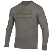 Men's Under Armour Gray Notre Dame Fighting Irish 2016 Shamrock Series Flag Tri-Blend Long Sleeve T-Shirt