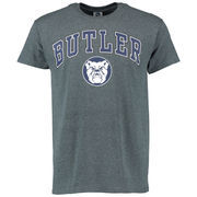 Men's Dark Gray Butler Bulldogs Mid-Size Arch Over Logo T-Shirt