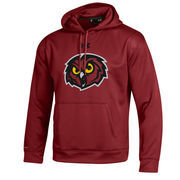 Men's Under Armour Cardinal Temple Owls Big Logo Storm Performance Pullover Hoodie