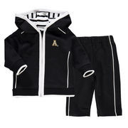 Newborn & Infant Black Appalachian State Mountaineers French Terry Pant & Jacket Sweat Set