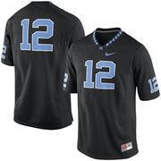 Men's Nike #12 Black North Carolina Tar Heels Replica Game Football Jersey