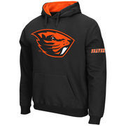 Men's Stadium Athletic Black Oregon State Beavers Big Logo Pullover Hoodie
