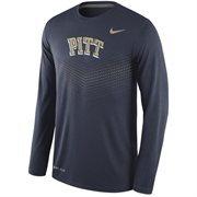 Men's Nike Navy Pitt Panthers 2015 Sideline Dri-FIT Legend Long Sleeve Performance T-Shirt