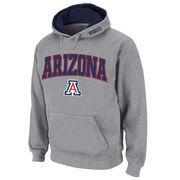 Men's Stadium Athletic Gray Arizona Wildcats Arch & Logo Pullover Hoodie