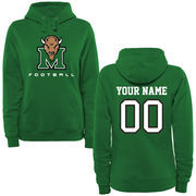 Marshall Thundering Herd Women's Personalized Football Pullover Hoodie - Green