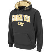 Men's Stadium Athletic Charcoal Georgia Tech Yellow Jackets Arch & Logo Pullover Hoodie