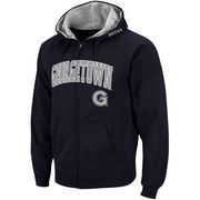 Men's Stadium Athletic Navy Georgetown Hoyas Arch & Logo Full Zip Hoodie