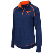 Women's Colosseum Navy Virginia Cavaliers Bikram 1/4 Zip Long Sleeve Jacket