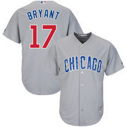 Men's Majestic Kris Bryant Gray Chicago Cubs Cool Base Player Jersey