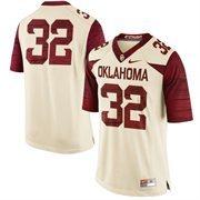 Men's Nike Cream Oklahoma Sooners #32 Limited Football Jersey