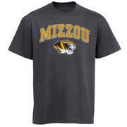 Men's New Agenda Charcoal Missouri Tigers Arch Over Logo T-Shirt
