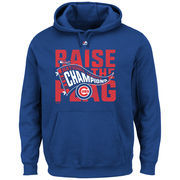 Men's Majestic Royal Chicago Cubs 2016 National League Champions Locker Room Pullover Hoodie