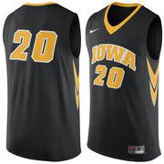 Men's Nike #20 Black Iowa Hawkeyes Replica Jersey
