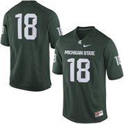 Men's Nike No. 18 Green Michigan State Spartans Replica Game Football Jersey