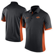 Men's Nike Black Oklahoma State Cowboys Team Issue Performance Polo
