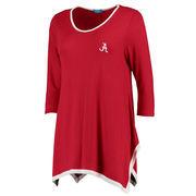 Women's Crimson Alabama Crimson Tide Logo Double Sharkbite Three-Quarter Sleeve Tunic